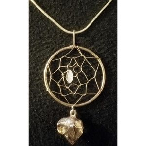Silver Dreamcatcher Pendant Necklace